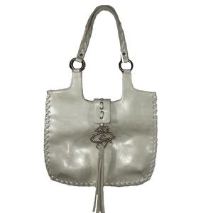 Guess Creamy White Shoulder Bag with Tassel
